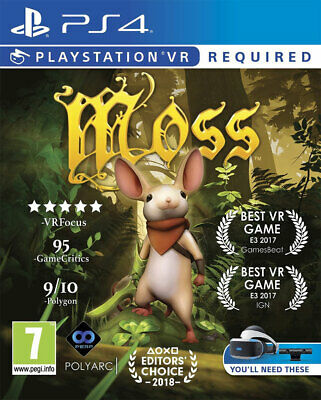 Moss (PS4 PSVR)  BRAND NEW AND SEALED - IN STOCK - QUICK DISPATCH - FREE UK POST