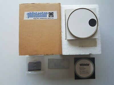 Philatector vintage watermark detector. Second hand, in original box.