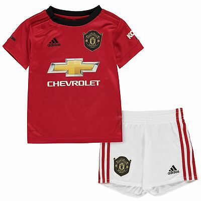 adidas Baby Kids Boys Manchester United Home Kit 2019 2020 Domestic Minikits