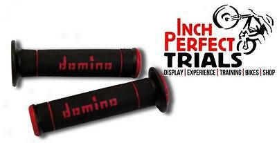 Domino Dual Compound Trials Trails Mx Motocross Motorbike Red Handle Bar Grips