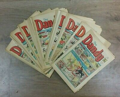 35 Dandy Magazines From 1972  ** £3.25 Uk Post ** Paperback