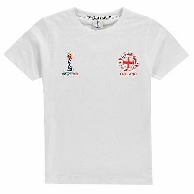 FIFA Kids Girls Junior World Cup England Core T Shirt Licensed Crew Neck Tee Top