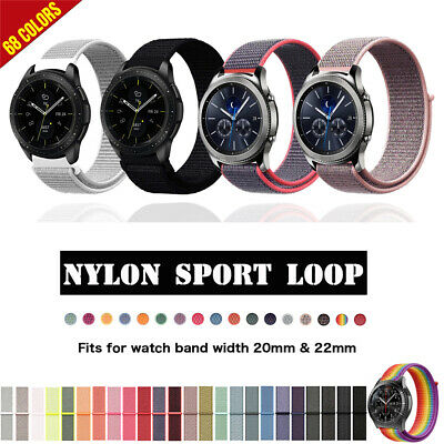 20mm 22mm Nylon Sport Watch Strap Band for Samsung Galaxy Watch 42/46mm Gear S3