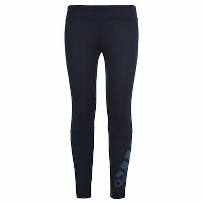 adidas Kids Girls Tr Long Tight Performance Tights Pants Trousers Bottoms