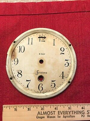 "Vintage Metal Sessions 8 Day Clock Face  Approx 5""   #12"