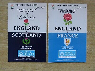 ENGLAND v SCOTLAND - FIVE NATIONS RUGBY PROGRAMME - 4 FEBRUARY 1989