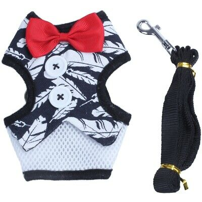 Adjustable Soft Mesh Small Dog Harness Pet Cat Puppy Padded Vest Harness Bo N3X4