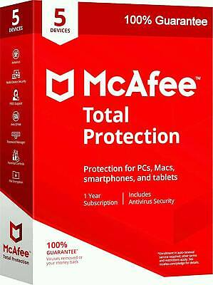 McAfee total protection 2019 Antivirus 5 Years 5 devices (KEY 100% Working)
