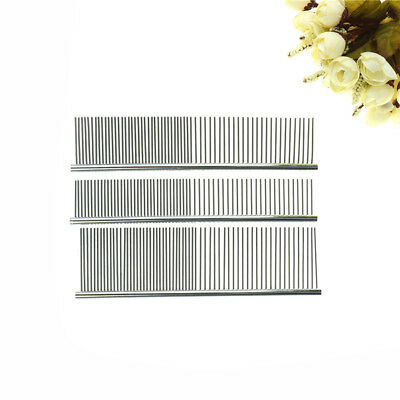 Stainless Steel Comb Hair Brush Shedding Flea For Cat Dog Pets Trimmer Grooming_