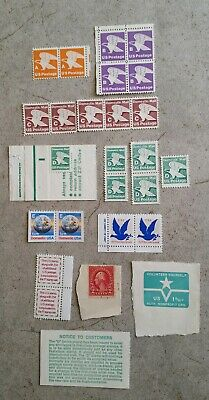 Vintage USPS Stamps, First Class A,B,C,D,E,F,G Rate, + Nonprofit