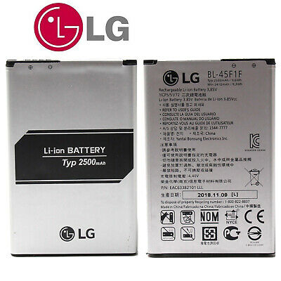 New Original OEM LG K4 K8 Aristo Cell Phone Battery Replacement 2500mAh BL-45F1F