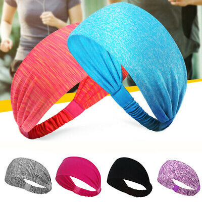 ITS- KE_ Men Women Sports Sweatband Headband Running Yoga Stretch Hair Band Rapt