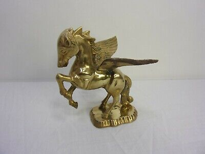 Vintage Solid Brass Pegasus Winged Flying Horse   box xyz
