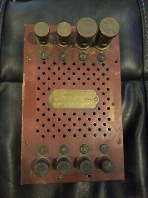 Antique WESTON ELECTRICAL INSTRUMENT CORP AC VOLTMETER A.C.Portable Shunt.#19615