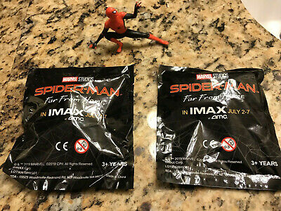 "Qty of 3 Spiderman ""Far From Home"" AMC IMAX Figurine-Sealed Brand New"