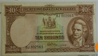 New Zealand 10 Shilling & 1 Pound Notes Fleming Fine