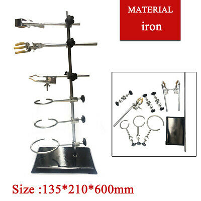 Laboratory Stands Support Clamp Retort Condenser  Flask Lab Grade Cilp Sets 60CM