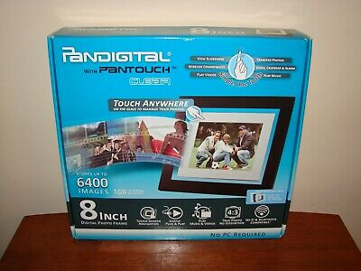 Pandigital Pantouch Clear 8 Inch Digital Photo Picture Frame PAN8000DWPCF1 - NEW