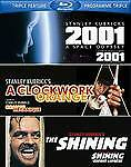 Blu Ray The Shining Clockwork Orange 2001 A Space Odyssey 2012 w/ slipcover NEW
