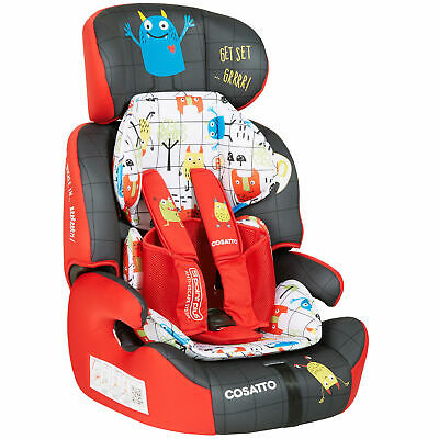 Cosatto Zoomi Group 1/2/3 Child Car Seat With 5 Point Plus Monster Mob 9-36kg
