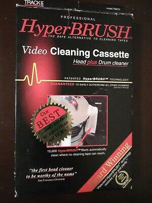 Trackmate Hyperbrush VHS Head PLUS Drum Cleaner