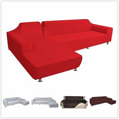 HOT L Shape Stretch Elastic Fabric Sofa Cover Sectional Corner Couch Covers