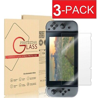 3-Pack Premium Tempered Glass Screen Protector for Nintendo Switch Free shipping