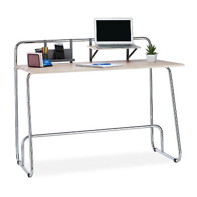 Writing Desk, Workstation and Computer Table with Oak Finish, Office Stand