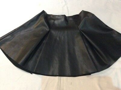 BLACK SKIRT 9 Yrs RIVER ISLAND Faux Leather Pleated Skirt RARE SOLD OUT