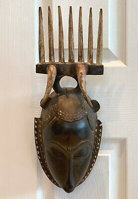 Stunning Antique Tribal African Carved Wood Mask