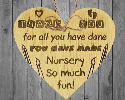 Thank You Gift Leaving Nursery Pre School Teacher Teaching Assistant Gift Plaque