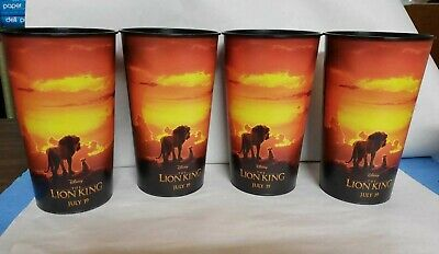 Disney ~ The Lion King 2019 Theater Cups 44oz  ~ set of 4