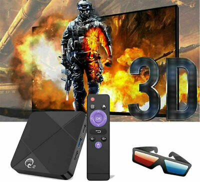 Android TV Box 2GB 16GB 9.0 Quad Core 6K HD 3D WiFi Smart Internet Media Player