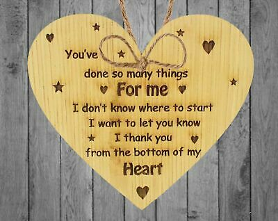 Thank You Gift For Teacher & Assistant Nursery Pre-school Leaving Gift Oak Heart