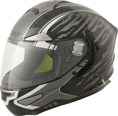 Fly Racing Luxx Shock Full Face Motorcycle Helmet Black/Silver