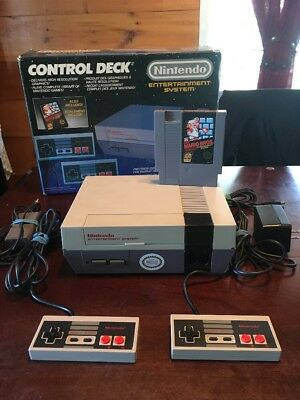 Nintendo Entertainment System Console 1988 Nes Control Deck Complete In Box !