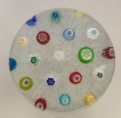 Baccarat Spaced Millefiori Glass Paperweight 1976
