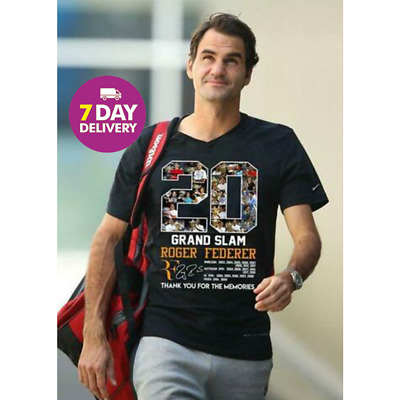 20 Grand Slam Roger Federer Thank You For The Memories T Shirt All Size