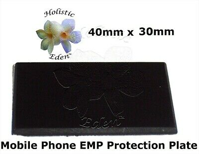 Shungite Phone Plate, Mobile Phone EMF Protection Plate 40mm x 30mm Polished