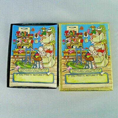 Antioch Cute Messy Mouse Book Plates 46 Count In Original Box Gummed Labels USA