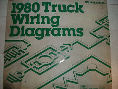 1980 ford econoline van electrical wiring diagrams service schematic manual  oem