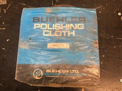 "Buehler 40-7242 Microcloth Pack of 8 Polishing Cloths For 12"" Wheel"