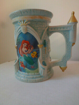 ❤️ DISNEY Parks Exclusive The Little Mermaid Castle 3D MUG Coffee Cup RARE ❤️