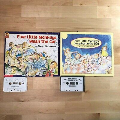 Five Little Monkeys 2002 Vintage Children's Cassette Book Tape Read Along Lot 2