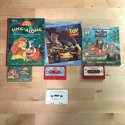 Disney Toy Story Lion King Vintage Children's Cassette Tape Read Along Lot of 3