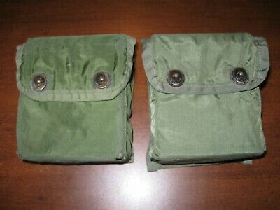 Lot of 2 USED Military first aid pouch w/ hard insert case OD olive drab IFAK