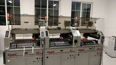 Quad 4C MK2 Pick and Place Machine - 3 machines in-line and configured as one