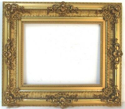 ANTIQUE MUSEUM QUALITY LOUIS XV STYLE GOLD LEAF FRAME FOR PAINTING 20 X16 inch
