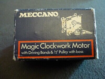 VINTAGE Wind-Up Clockwork Motor by Meccano, made in England, box-manual very goo