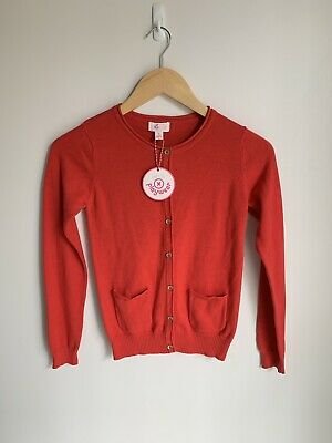Pumpkin Patch Red Carly Rose Cardigan Girls Size 9 Brand New